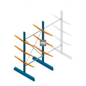 Draagarmstelling MP Dubbelzijdig 2500x1250x600mm (hxbxd) 3 niveaus 150kg
