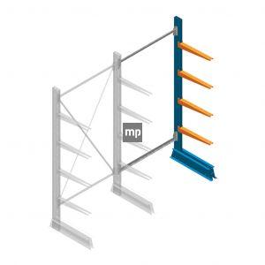 Aanbouwsectie MP Draagarmstelling Enkelzijdig 2000x1000x500mm (hxbxd) 4 niveaus