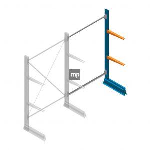 Aanbouwsectie MP Draagarmstelling Enkelzijdig 2000x1250x500mm (hxbxd) 2 niveaus