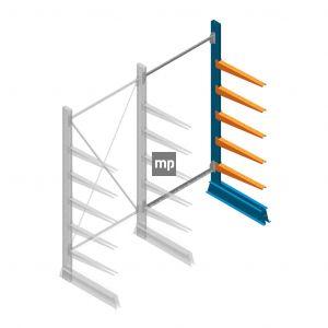 Aanbouwsectie MP Draagarmstelling Enkelzijdig 2000x1000x600mm (hxbxd) 5 niveaus
