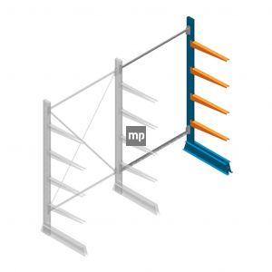 Aanbouwsectie MP Draagarmstelling Enkelzijdig 2000x1250x600mm (hxbxd) 4 niveaus