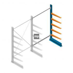 Aanbouwsectie MP Draagarmstelling Enkelzijdig 2000x1250x600mm (hxbxd) 5 niveaus