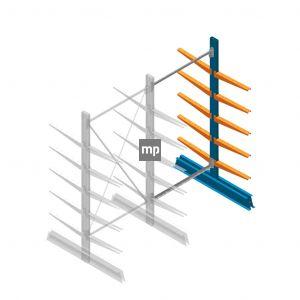 Aanbouwsectie MP Draagarmstelling Dubbelzijdig 2000x1000x500mm (hxbxd) 5 niveaus