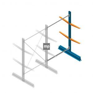 Aanbouwsectie MP Draagarmstelling Dubbelzijdig 2000x1250x500mm (hxbxd) 2 niveaus