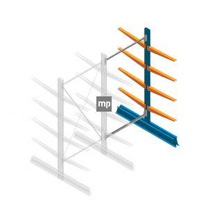 Aanbouwsectie MP Draagarmstelling Dubbelzijdig 2000x1000x600mm (hxbxd) 4 niveaus