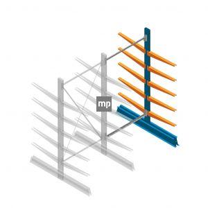 Aanbouwsectie MP Draagarmstelling Dubbelzijdig 2000x1000x600mm (hxbxd) 5 niveaus