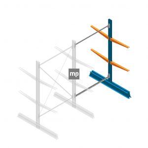 Aanbouwsectie MP Draagarmstelling Dubbelzijdig 2000x1250x600mm (hxbxd) 2 niveaus