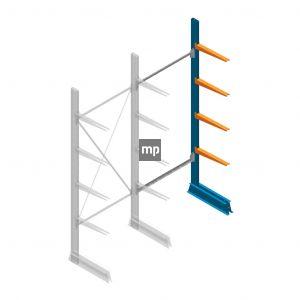 Aanbouwsectie MP Draagarmstelling Enkelzijdig 2500x1000x500mm (hxbxd) 4 niveaus