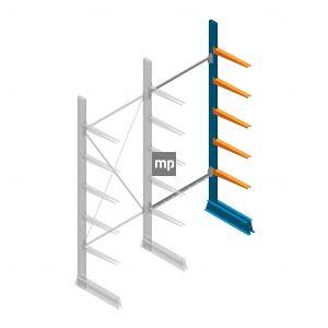 Aanbouwsectie MP Draagarmstelling Enkelzijdig 2500x1000x500mm (hxbxd) 5 niveaus