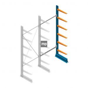 Aanbouwsectie MP Draagarmstelling Enkelzijdig 2500x1000x500mm (hxbxd) 6 niveaus
