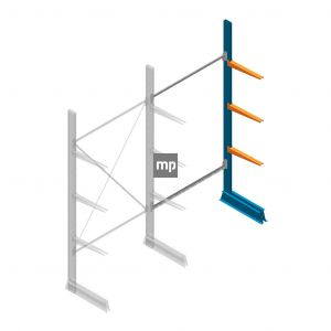 Aanbouwsectie MP Draagarmstelling Enkelzijdig 2500x1250x500mm (hxbxd) 3 niveaus