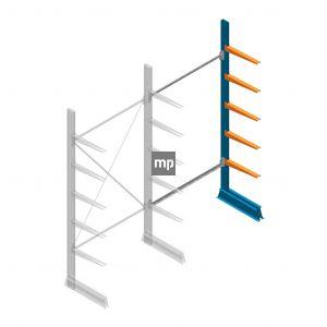 Aanbouwsectie MP Draagarmstelling Enkelzijdig 2500x1250x500mm (hxbxd) 5 niveaus