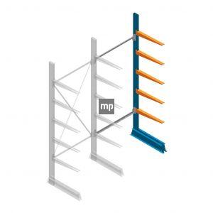 Aanbouwsectie MP Draagarmstelling Enkelzijdig 2500x1000x600mm (hxbxd) 5 niveaus
