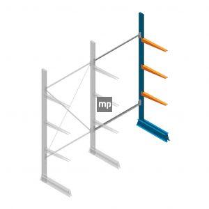 Aanbouwsectie MP Draagarmstelling Enkelzijdig 2500x1250x600mm (hxbxd) 3 niveaus