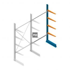 Aanbouwsectie MP Draagarmstelling Enkelzijdig 2500x1250x600mm (hxbxd) 4 niveaus