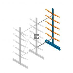 Aanbouwsectie MP Draagarmstelling Dubbelzijdig 2500x1250x500mm (hxbxd) 5 niveaus