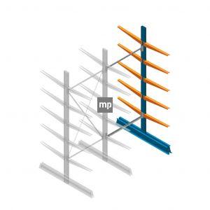 Aanbouwsectie MP Draagarmstelling Dubbelzijdig 2500x1000x600mm (hxbxd) 5 niveaus