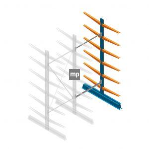 Aanbouwsectie MP Draagarmstelling Dubbelzijdig 2500x1000x600mm (hxbxd) 6 niveaus