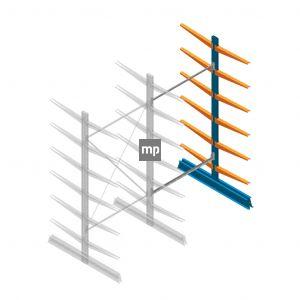 Aanbouwsectie MP Draagarmstelling Dubbelzijdig 2500x1250x600mm (hxbxd) 6 niveaus