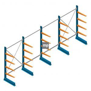 Voordeelrij MP Draagarmstelling Enkelzijdig 2000x5100x600mm (hxbxd) 4 niveaus 150kg