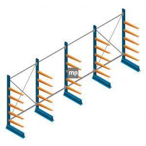 Voordeelrij MP Draagarmstelling Enkelzijdig 2000x5100x600mm (hxbxd) 5 niveaus 150kg