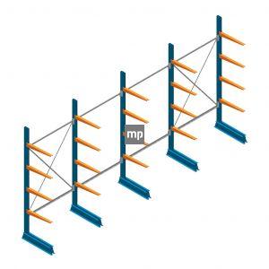 Voordeelrij MP Draagarmstelling Enkelzijdig 2500x5100x600mm (hxbxd) 4 niveaus 150kg