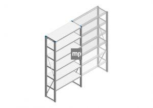 Beginsectie Nedcon SF Legbordstelling 2000x970x400mm hxbxd 6 niveaus Metaal Verzinkt 200kg Enkel