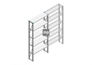 Beginsectie Nedcon SF Legbordstelling 2200x970x300mm hxbxd 5 niveaus Metaal Verzinkt 200kg Enkel