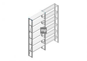 Beginsectie Nedcon SF Legbordstelling 2500x970x300mm hxbxd 6 niveaus Metaal Verzinkt 200kg Enkel