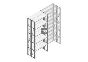 Beginsectie Nedcon SF Legbordstelling 2500x970x600mm hxbxd 5 niveaus Metaal Verzinkt 200kg Dubbel