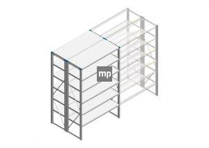 Beginsectie Nedcon SF Legbordstelling 2000x1220x1000mm hxbxd 6 niveaus Metaal Verzinkt 175kg Dubbel