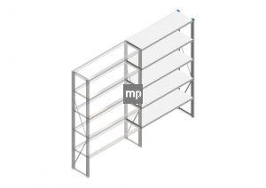 Aanbouwsectie Nedcon SF Legbordstelling 2000x1220x400mm hxbxd 5 niveaus Metaal Verzinkt 175kg Enkel