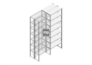 Aanbouwsectie Nedcon SF Legbordstelling 3000x970x800mm hxbxd 7 niveaus Metaal Verzinkt 200kg Dubbel