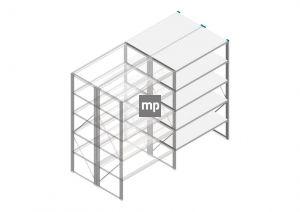 Aanbouwsectie Nedcon SF Legbordstelling 2000x1220x1200mm hxbxd 5 niveaus Metaal Verzinkt 175kg Dubbel