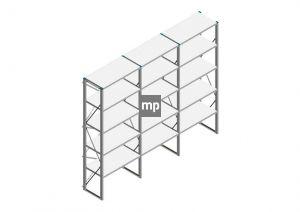 Voordeelrij Nedcon SF Legbordstelling 2500x3030x500mm hxbxd 5 niveaus Metaal Verzinkt 200kg Enkel