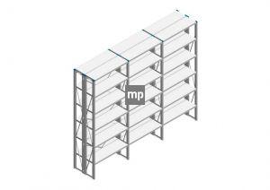 Voordeelrij Nedcon SF Legbordstelling 2500x3030x600mm hxbxd 6 niveaus Metaal Verzinkt 200kg Dubbel