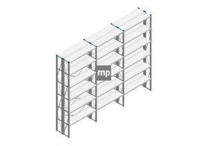 Voordeelrij Nedcon SF Legbordstelling 3000x3780x600mm hxbxd 6 niveaus Metaal Verzinkt 175kg Dubbel